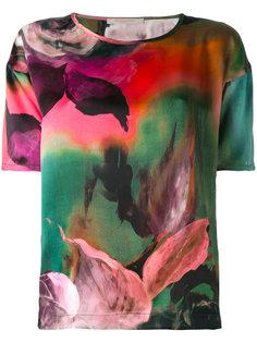 футболка с цветочным принтом Ermanno Gallamini