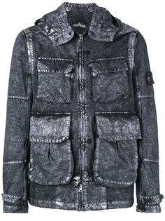 джинсовая куртка с карманами Stone Island Shadow Project