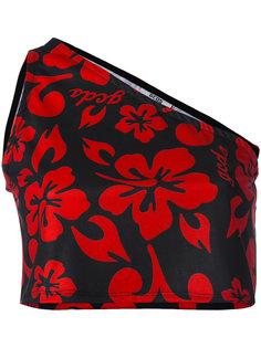 single shoulder floral top Gcds