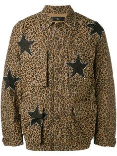 leopard print military jacket Amiri