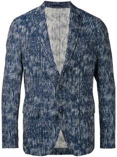abstract grid blazer Casely-Hayford
