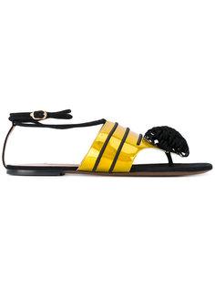 pompom flat sandals LAutre Chose