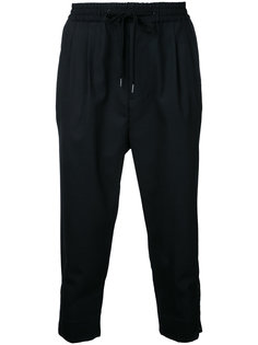 zipped hem cropped trousers monkey time
