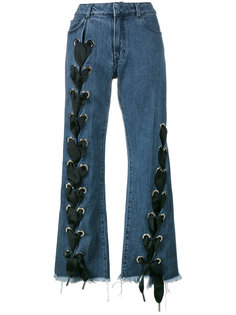 lace-up wide-leg jeans  Marquesalmeida