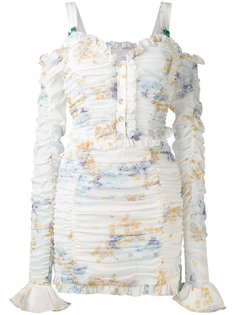 gathered mini dress Alessandra Rich