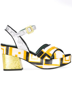 chunky printed sandals Paola Darcano