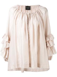 ruffled sleeve blouse Erika Cavallini