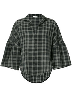 checked print blouse Tome