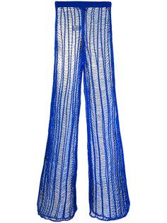 сетчатые удлиненные брюки Balmain