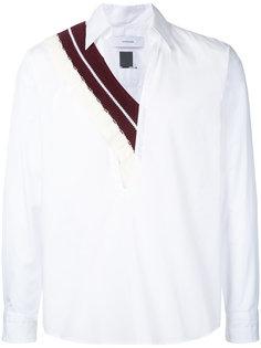 поплиновая рубашка с трикотажной отделкой Facetasm