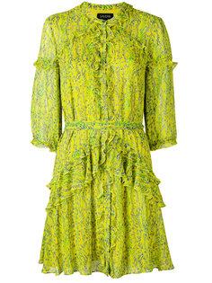 printed frill dress Saloni