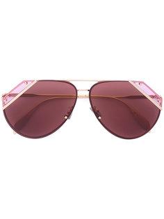 солнцезащитные очки-авиаторы со срезанными углами Alexander McQueen