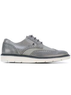 туфли со шнуровкой и сетчатыми панелями Hogan