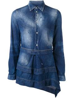 многослойная джинсовая рубашка  Dsquared2