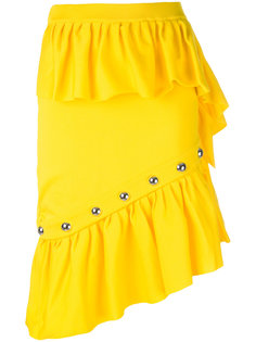 юбка с оборками и заклепками Marquesalmeida