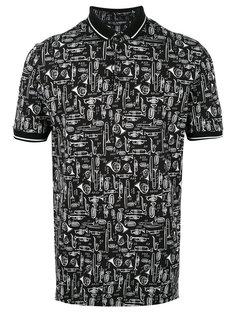 футболка-поло с принтом музыкальных инструментов Dolce & Gabbana