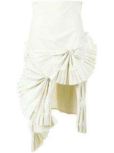 pleated fan asymmetric skirt  Jacquemus