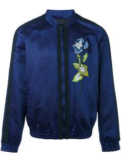 атласная куртка-бомбер с вышивкой  Christian Pellizzari