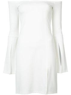 off shoulder slit dress Alexis