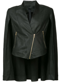 diagonal zip leather cape Gareth Pugh
