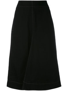 джинсовая юбка А-образного кроя Lemaire