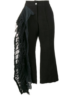 lace frill cropped trousers  By Walid