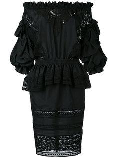 драпированное платье с открытыми плечами Faith Connexion