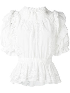 блузка с рюшами и кружевными вставками Faith Connexion