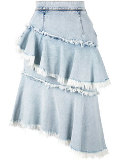 frill denim skirt Marco Bologna