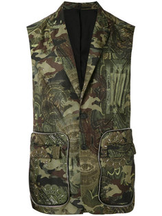camouflage printed gilet Givenchy