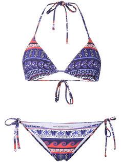printed triangle bikini Mary Katrantzou