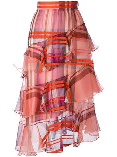 tartan ruffle skirt Daizy Shely