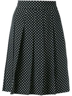 юбка со складками и узором в горох Marc Jacobs