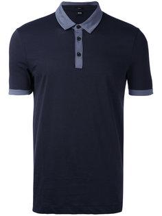 футболка-поло с контрастной отделкой  Boss Hugo Boss