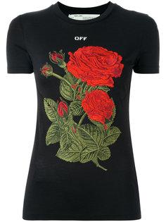 футболка с нашитыми розами Off-White