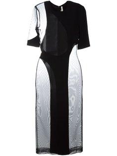 облегающее платье с вырезом Christopher Kane