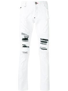 состаренный джинсы  Philipp Plein