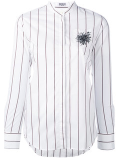 декорированная полосатая рубашка  Brunello Cucinelli