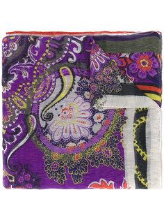 шарф с цветочным узором Etro