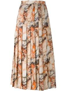 юбка с мраморным принтом Christopher Kane