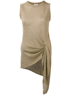 блузка с отделкой металлик Brunello Cucinelli