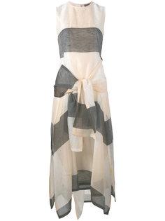 длинное платье с завязкой Sportmax