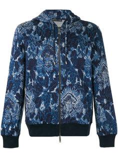 floral print zipped hoodie Etro