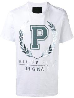 футболка с принтом металлик Philipp Plein