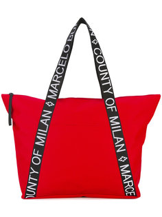 branded strap tote Marcelo Burlon County Of Milan