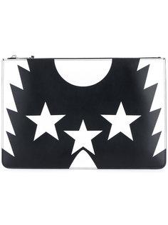 клатч с принтом звезд Givenchy