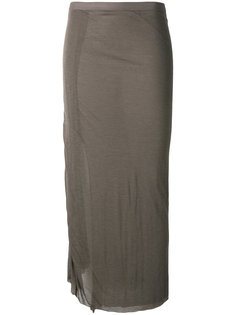 облегающая юбка миди Rick Owens Lilies