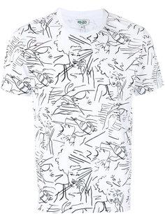 футболка с графическим принтом Kenzo