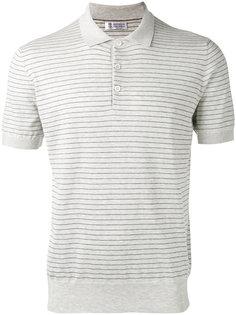 полосатая футболка-поло Brunello Cucinelli