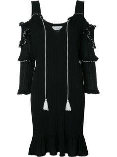 вязаное платье с открытыми плечами Derek Lam 10 Crosby